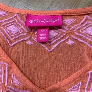 Lilly Pulitzer Tops - Lilly Pulitzer Embroidered Rayon Tunic Sz Small